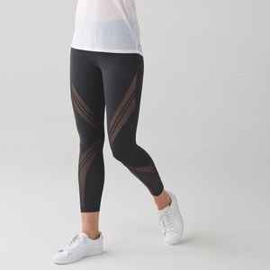 Lulu lemon mesh stripe leggings
